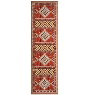 Herblain Orange Indoor Area Rug By Loon Peak