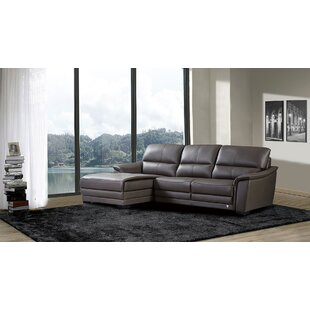 Brayden Studio Shrum Leather Sectional