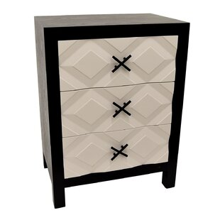 Covert Wood 3 Drawer Accent Chest by Orren Ellis
