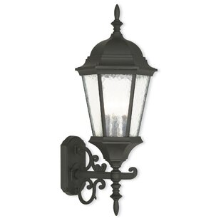 Check Prices Christian 3-Light Outdoor Wall Lantern By Darby Home Co