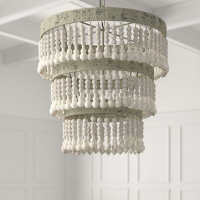 Corbin 3 Light Unique Statement Tiered Chandelier With Wood Accents Joss Main