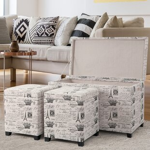 Brindley 3 Piece Storage Ottoman Set