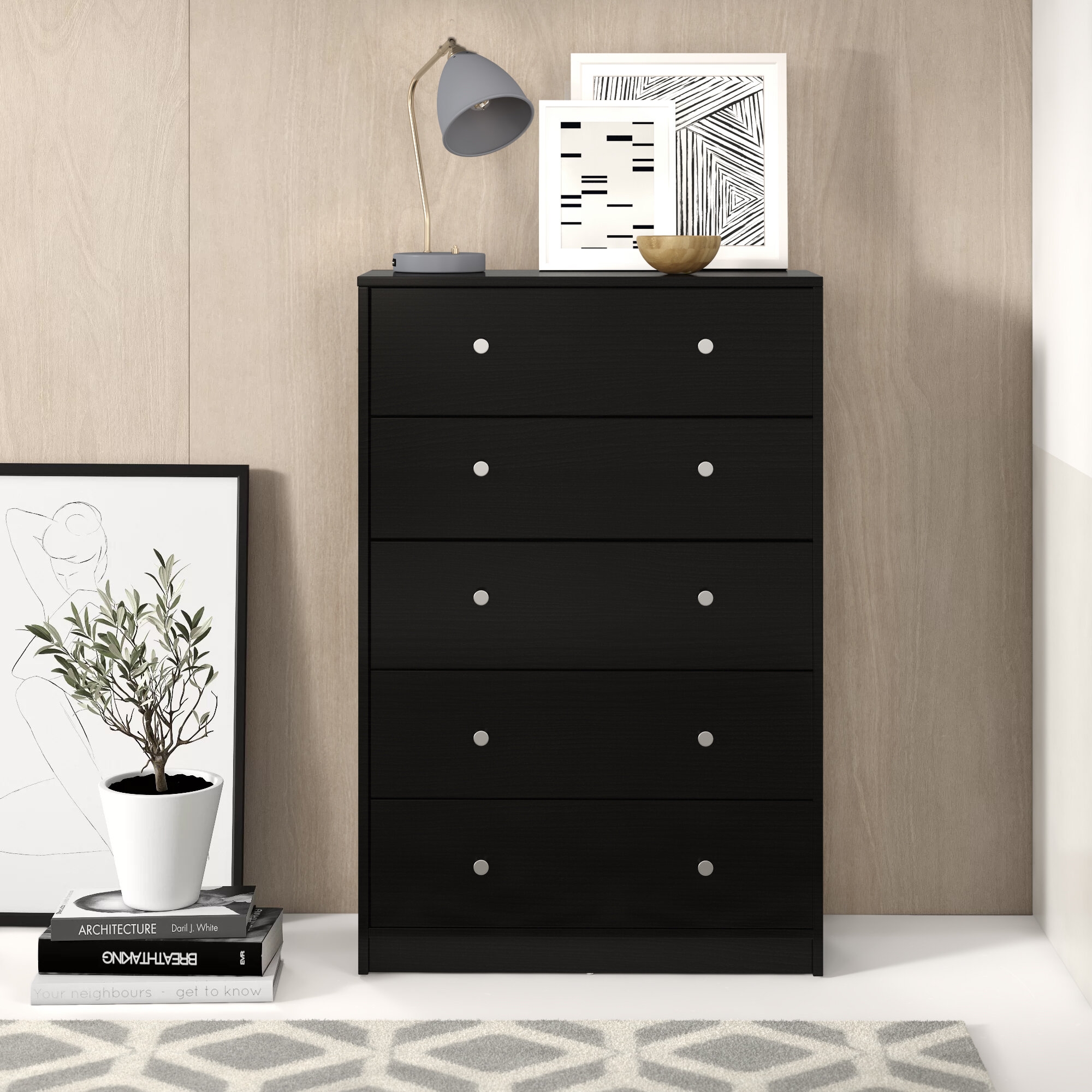Picture of: 5 Drawer Black Dressers Chests You Ll Love In 2020 Wayfair