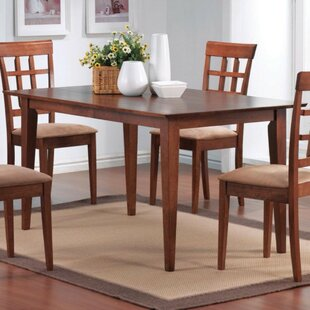 Jefcoat Sophisticated Wooden Dining Table by Winston Porter