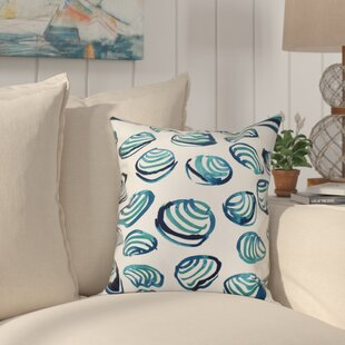 Cedarville Clams Geometric Print Outdoor Throw Pillow
