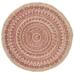 Merle Natural Handwoven Pink Area Rug by Bungalow Rose