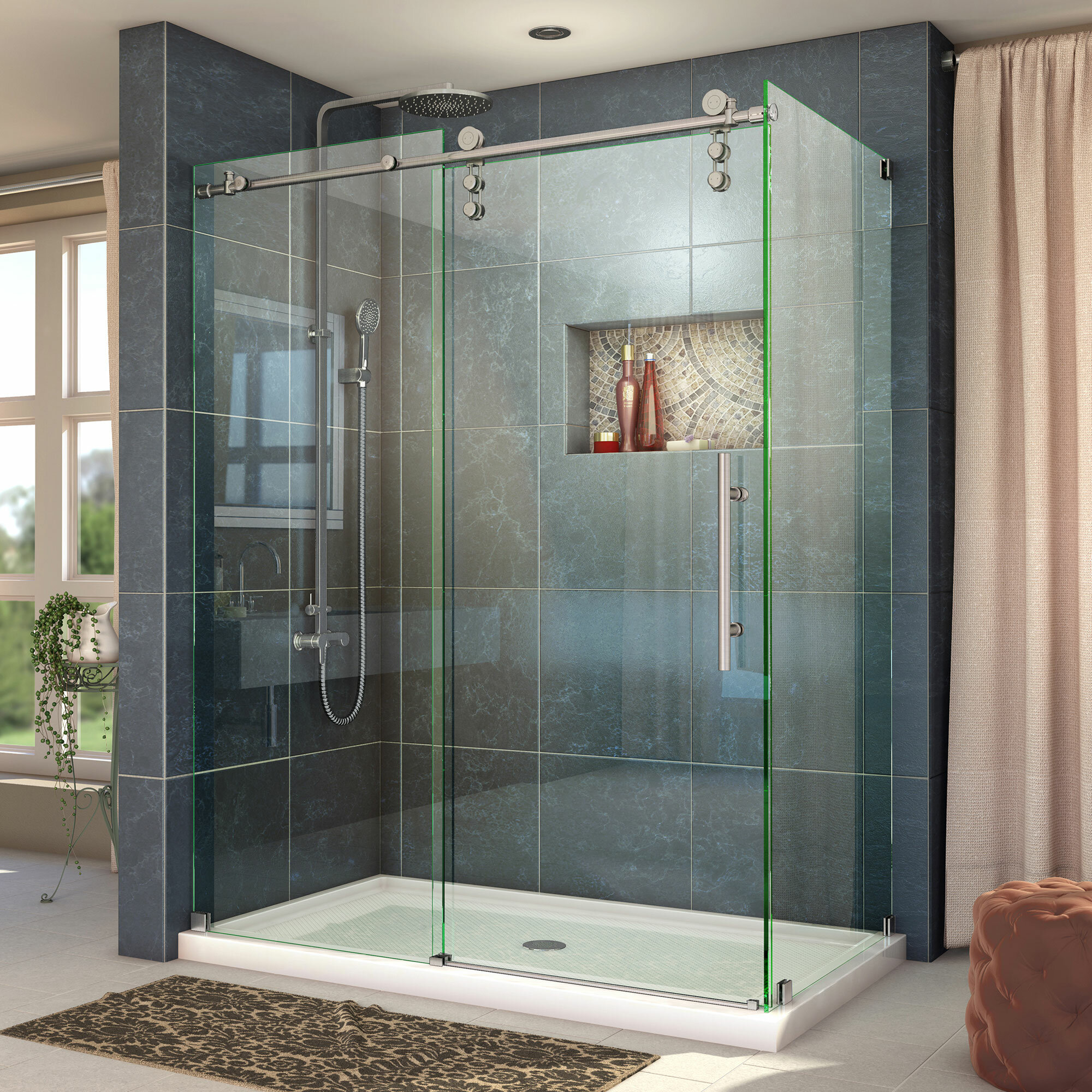 Dreamline Enigma Z 60 38 X 76 Single Sliding Frameless Shower Door With Clear Max Technology Reviews Wayfair