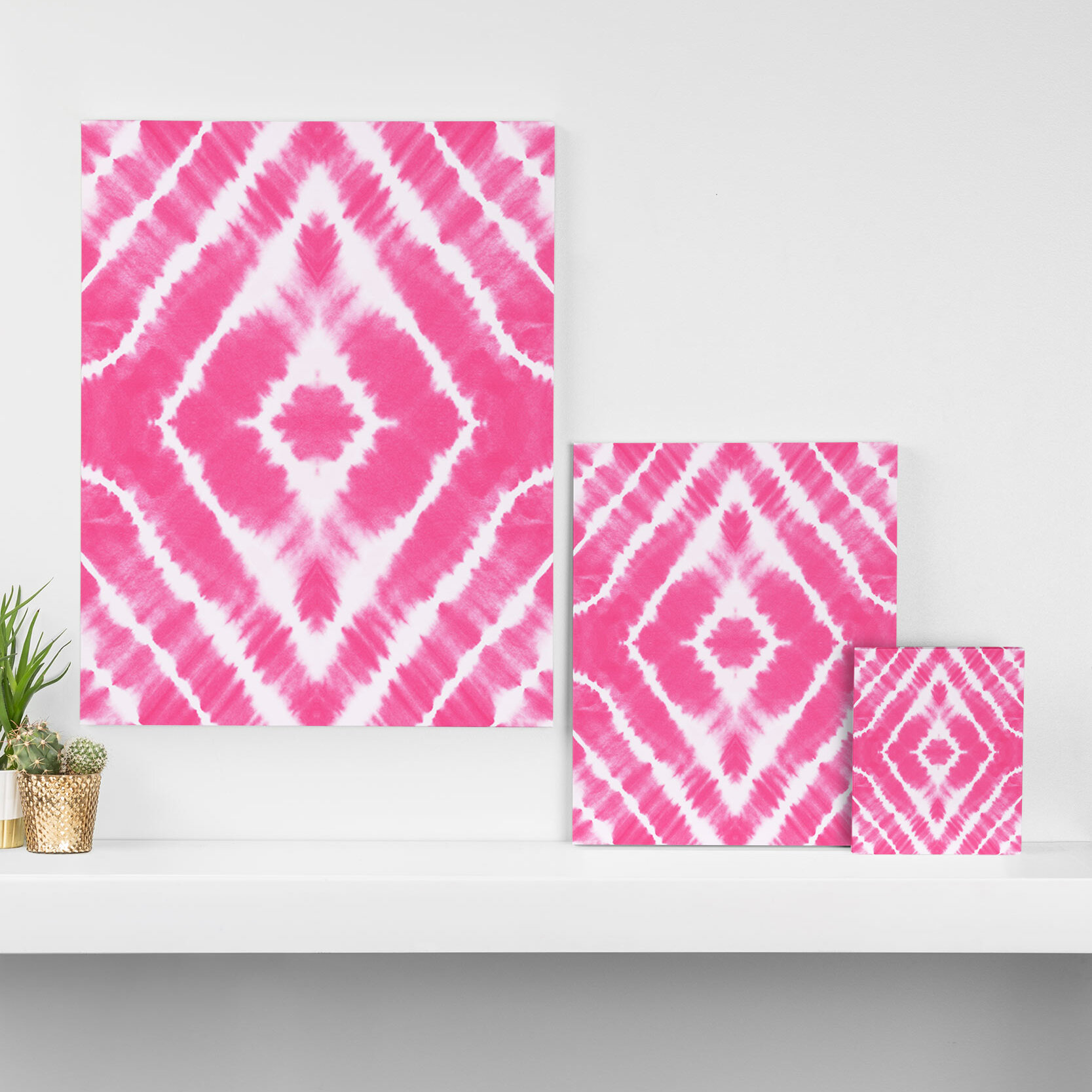 East Urban Home Wake Up Call Hot Pink Graphic Art On Wrapped Canvas Wayfair