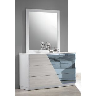 Nikhat 3 Drawer Dresser with Mirror