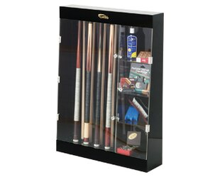 Display Cases Ten Cue Wall Mount Case With Accessory Shelves