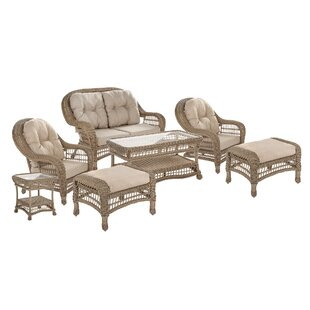 Demoss Outdoor Garden 7 Piece Seating Group with Cushions