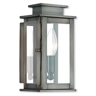 Farmingdale 1-Light Glass Shade Outdoor Flush Mount