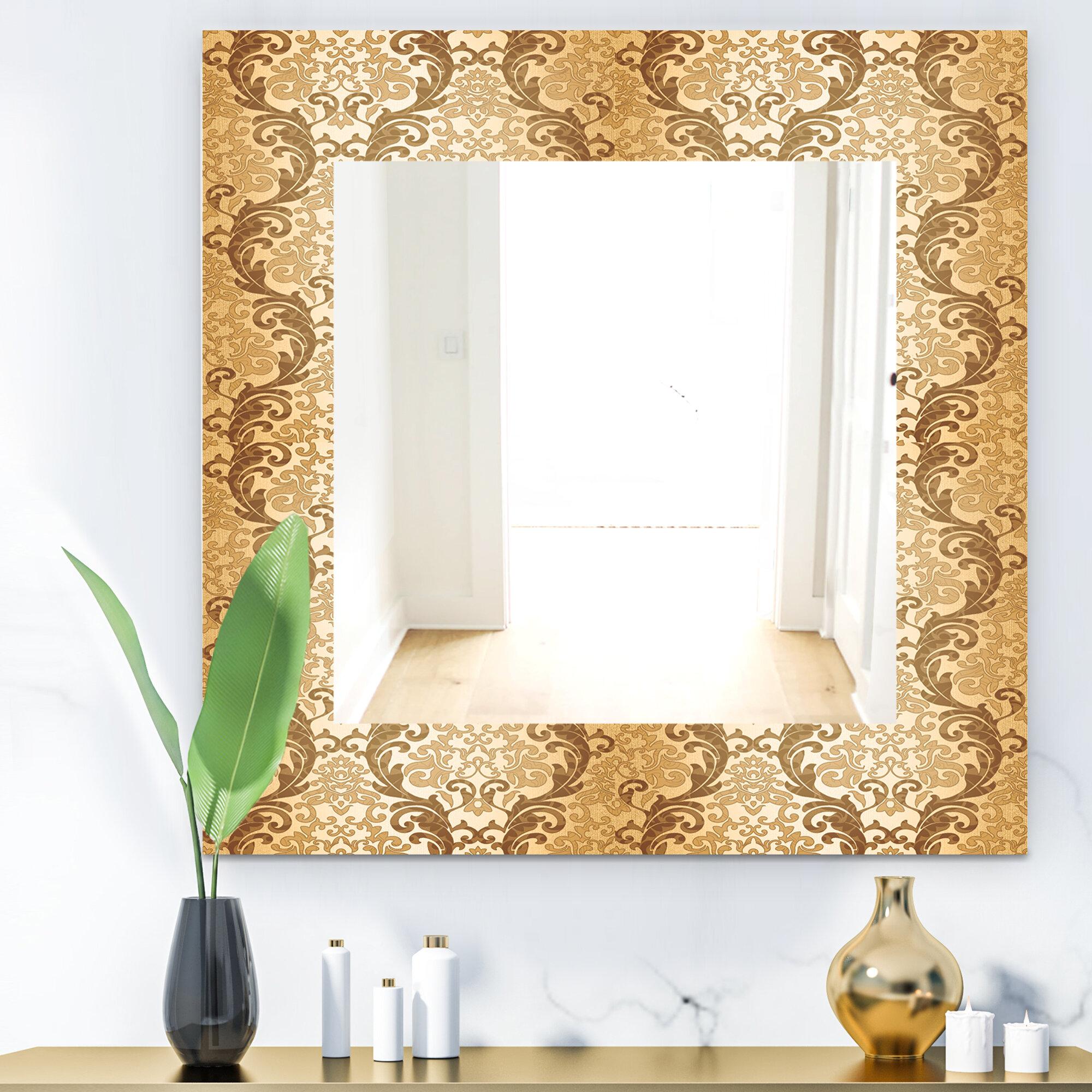East Urban Home Damask Mid Century Modern Bathroom Vanity Mirror Wayfair