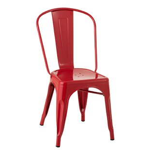 Chair Bistro Metal Red (52X45x85cm) By Williston Forge