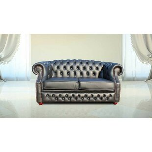 Chinery Genuine Leather 2 Seater Chesterfield Sofa By Rosalind Wheeler