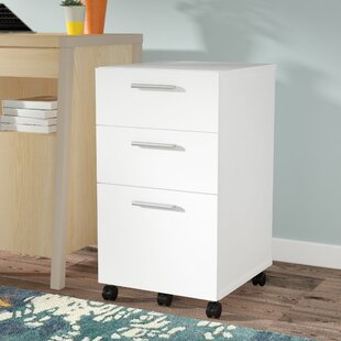 Latitude Run Magdalena 3 Drawer Mobile Filing Cabinet
