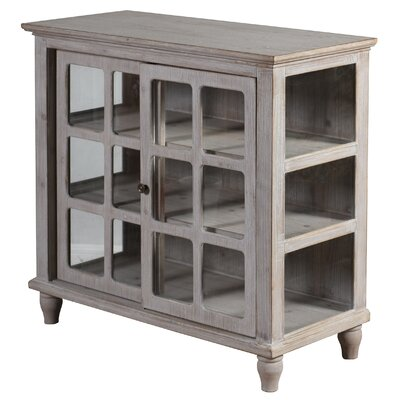 Archer Sliding 2 Door Accent Cabinet Color: Driftwood Gray by August Grove