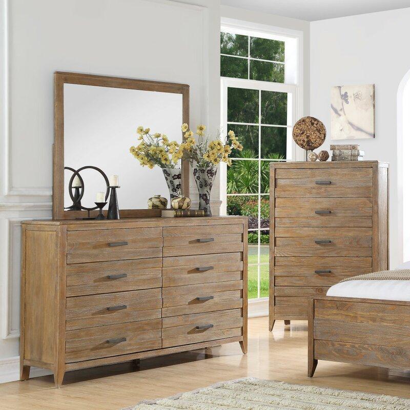 Fedna 8 Drawer Double Dresser With Mirror Joss Main