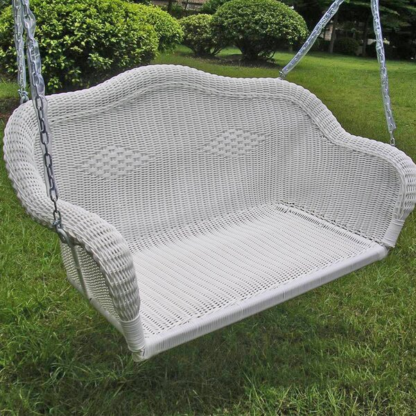 Bay Isle Home Soucy Wicker Porch Swing Amp Reviews Wayfair