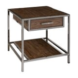 Falkner Modern Industrial Style Wood and Smoked End Table by Brayden Studio®