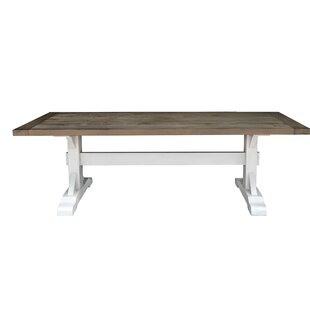Dukes Solid Wood Dining Table by Rosecliff Heights Great Reviews