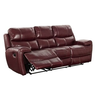 Simeone Leather Reclining Sofa by Red Barrel Studio