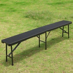 Darien Folding Bistro-Style Garden Bench