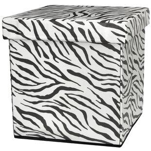 Zebra Stripe Storage Ottoman