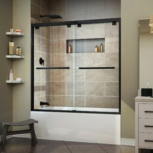 "Encore 56"" W x 58"" H Bypass Semi Frameless Tub Door with Clearmax™ Technology"