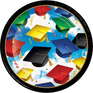 Graduation Celebration Paper Appetizer Plate (Set of 24)