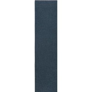 Best Price Upper Strode Blue Indoor/Outdoor Area Rug By Wrought Studio