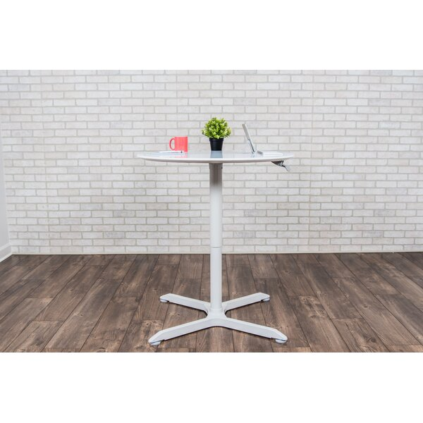 Luxor Round Adjustable Height Cafe Table Wayfair - Adjustable height cafe table