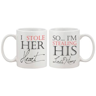 2 Piece I Stole Her Heart So I'm Stealing His Last Name Couple Matching 11 oz. Mug Set