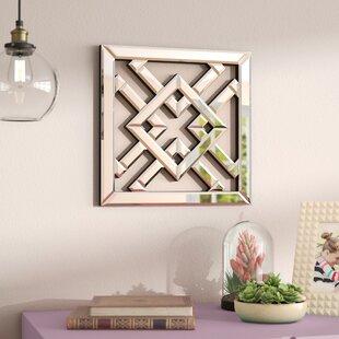 Geometric Mirrored Wall Décor