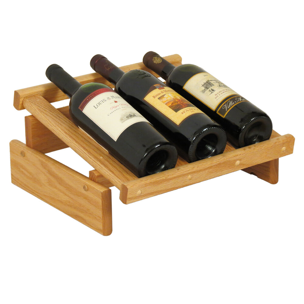 Wooden Mallet Dakota 3 Bottle Tabletop Wine Rack Wayfair