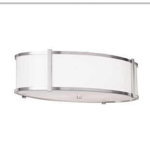 ILEX Lighting Hatbox Oval Flush Mount