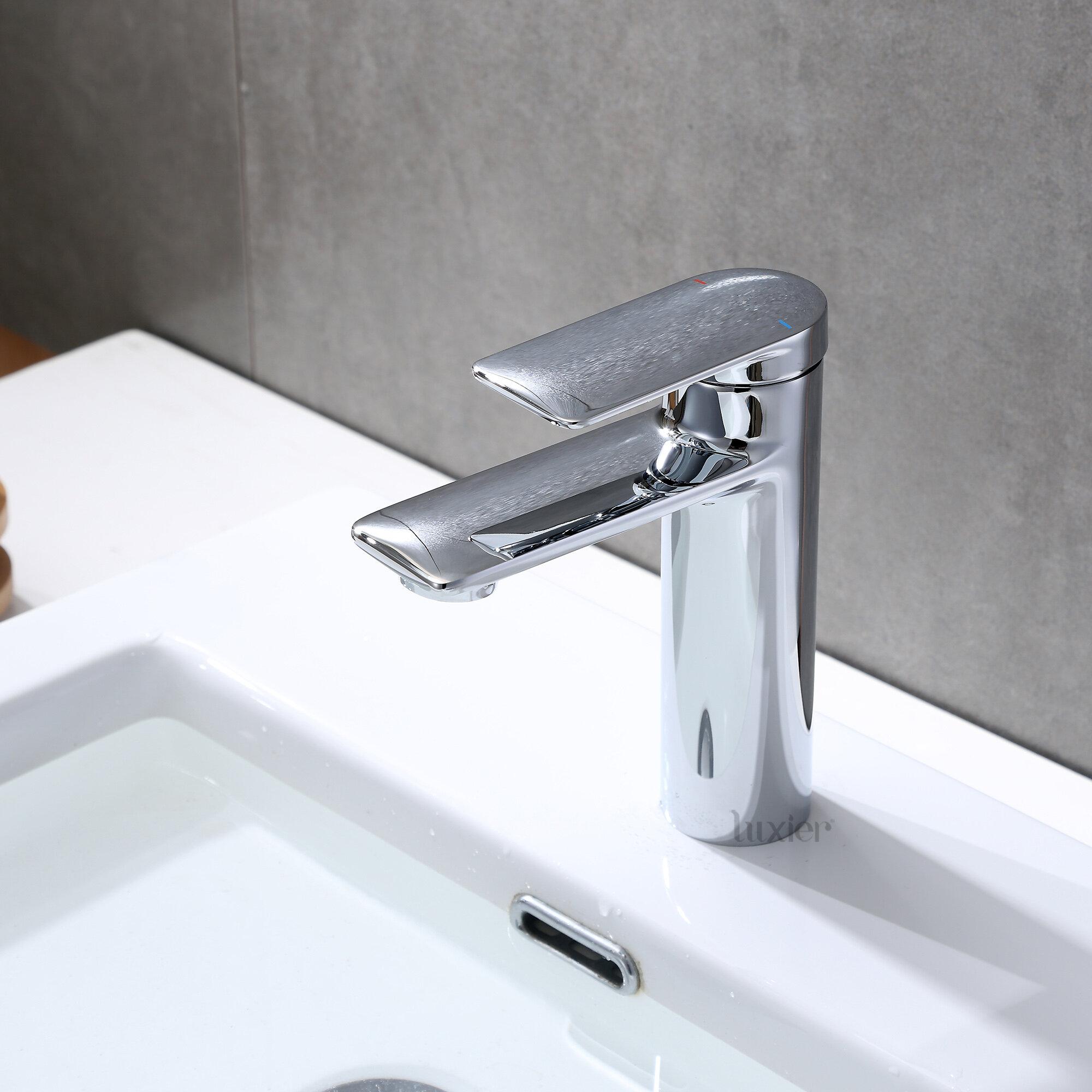 Luxier Contemporary Lavatory Single Hole Bathroom Faucet Wayfair