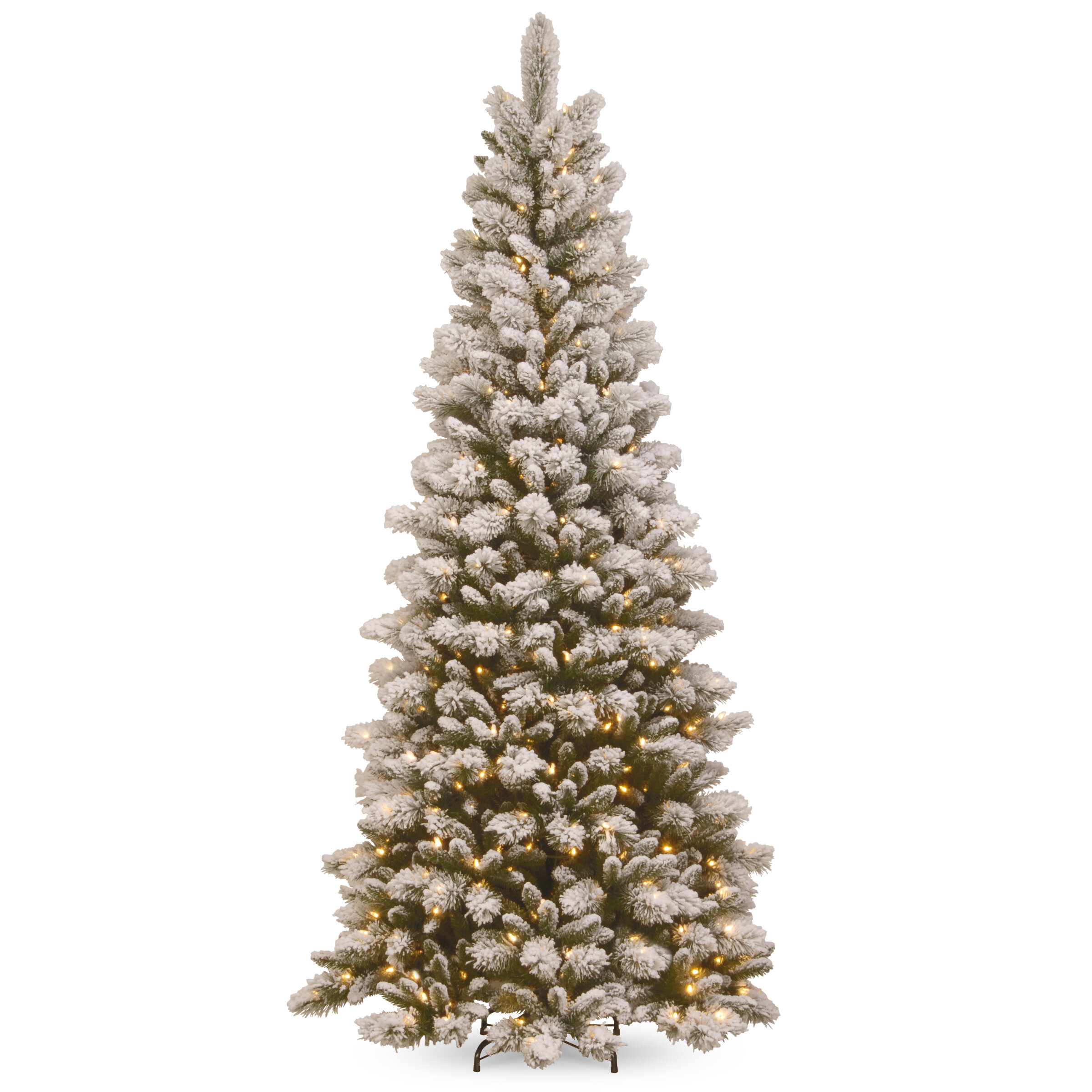 Darby Home Co Slim 90 Metal Frame Green Pine Artificial Christmas Tree With 500 Clear Lights Stand Wayfair