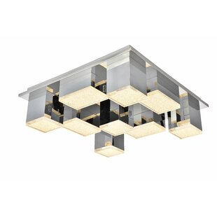 Orren Ellis Corbyn 9-Light LED Flush Mount