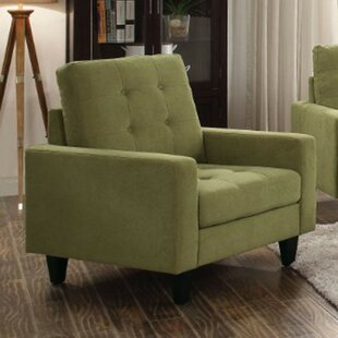 Xenia Fabric Upholstered Straight Club Chair by Latitude Run
