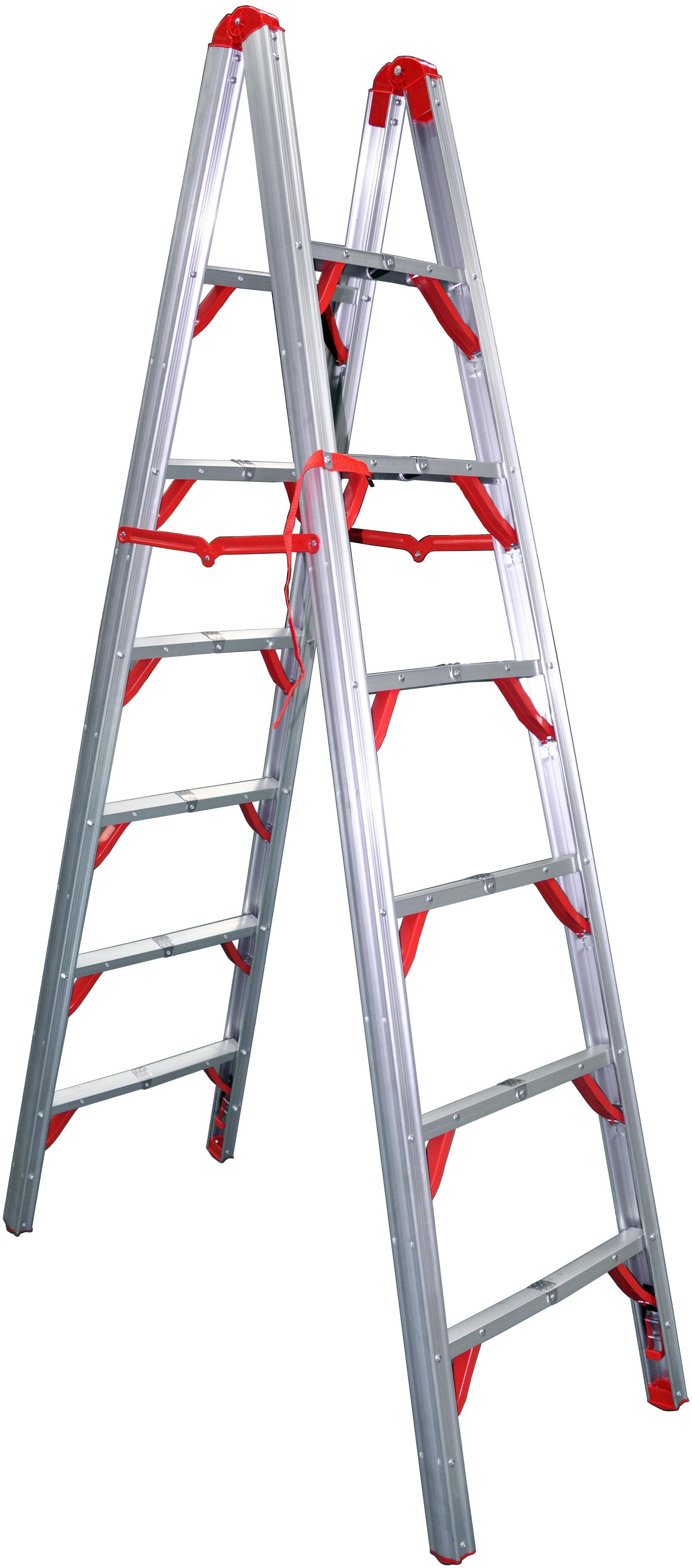 Telesteps Double Sided Folding 7 Ft Aluminum Step Ladder With 250 Lb Load Capacity Wayfair