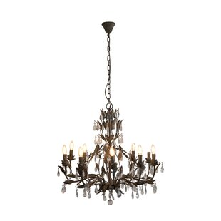 House of Hampton Milla 12-Light Crystal Chandelier