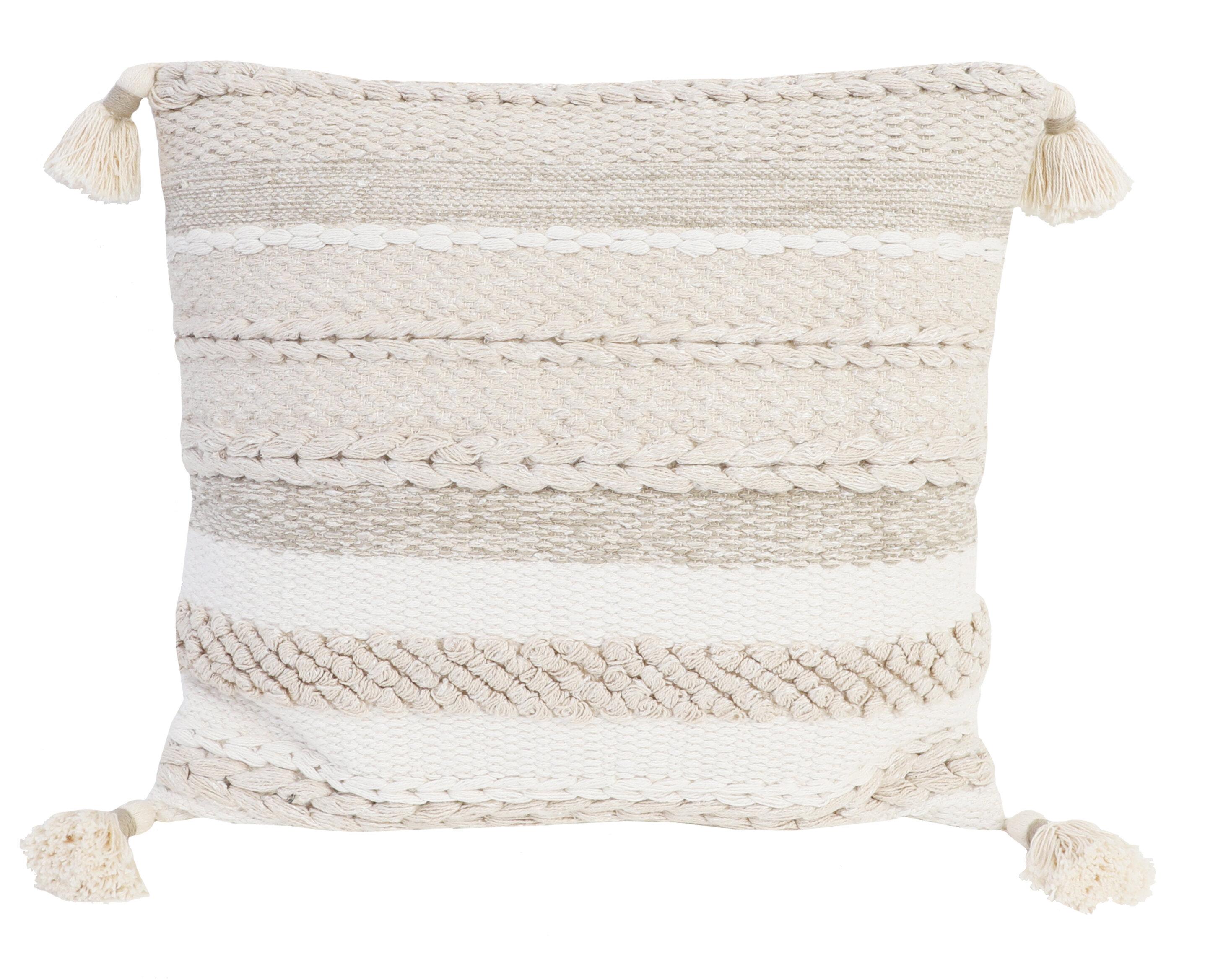 Mistana Penelope Cotton Feathers Striped Throw Pillow Reviews Wayfair