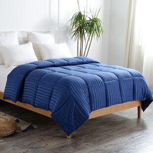 Striped All Season Down Alternative Comforter by Red Barrel Studio