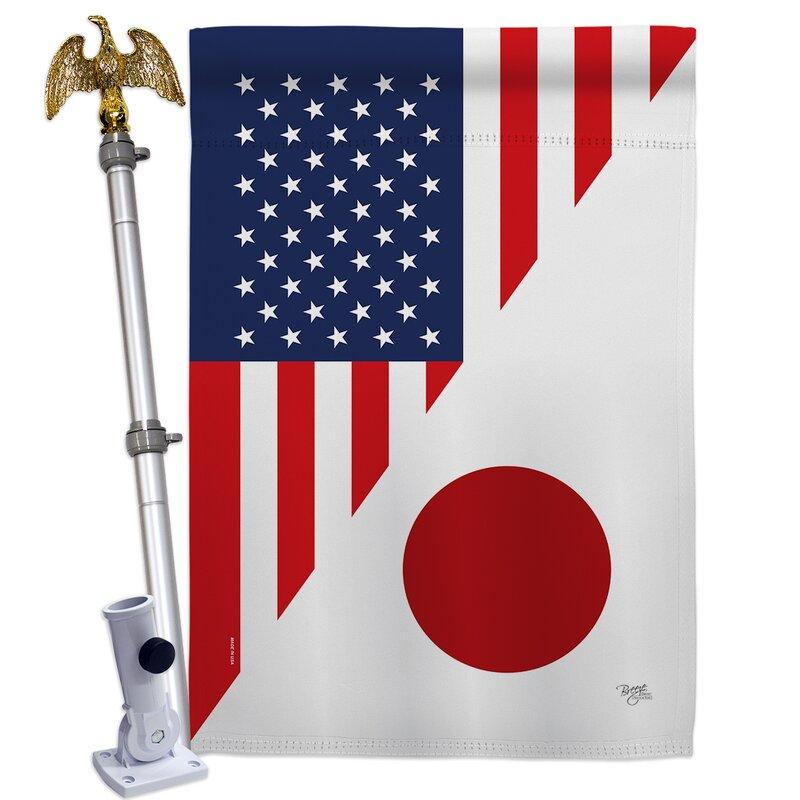 Breeze Decor American Japan Friendship Impressions Decorative 2 Sided 40 X 40 In Polyester Flag Set Wayfair