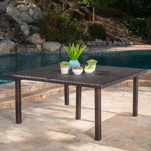 Mclemore Wicker/Rattan Dining Table by Latitude Run