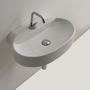 Find for Cento Ceramic 24 Wall Mount Bathroom Sink By WS Bath Collections