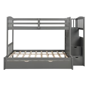 Murdoch Convertible Twin over Full Bunk Bed with Shelves and 4 Drawers by Harriet Bee