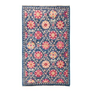 Comparison One-of-a-Kind Suzani Hand-Knotted Multicolor Area Rug By Darya Rugs