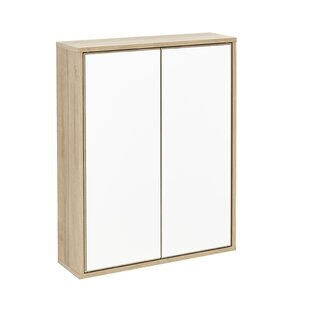 Finn 30cm X 75cm Surface Mount Mirror Cabinet With LED Lighting By Fackelmann